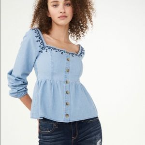 NWT Aeropostale Embroidered Top